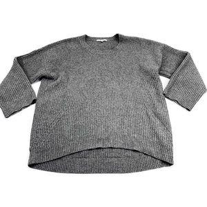 Madewell Merino Wool Pullover Knit Sweater Gray